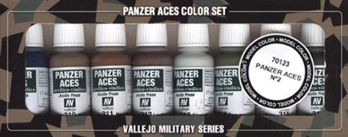Vallejo Model Color Panzer Aces nº 2 de acrílico Pintura Set - Surtido de Colores (paquete de 8)