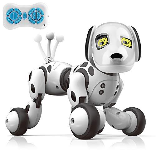 iKing ロボット犬 ロボットおもちゃ 電子ペット 犬型ロボット ペットロボット 家庭用ロボット 子供おもちゃ 男の子 女の子 子供の日 誕生日 クリスマス プレゼント 贈り物 高齢者向け 癒し 日本語説明書付き
