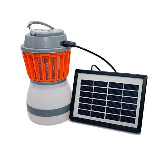 ZFH Linterna para Acampar Eliminador de Mosquitos Insecto Fly Killer 2-en-1 Portátil Ligero USB Recargable IP67 Impermeable Ecológico No tóxico
