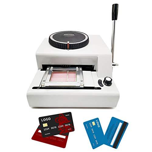 Máquina de estampado de tarjetas de PVC de 72 caracteres VIP magnético grabado láser de la...