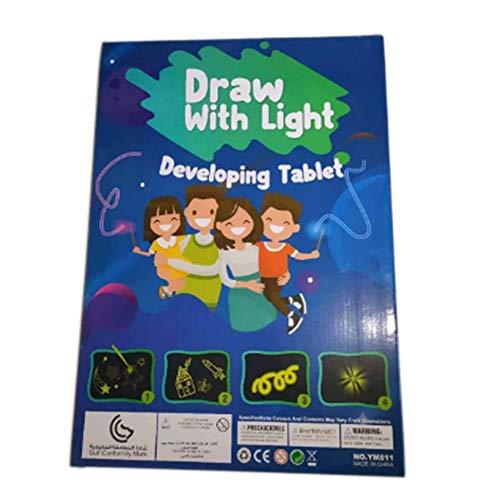 Dibujo mágico Tablero de Efectos de luz Tablero de Dibujo Tablero Dibujo Creativo para niños Bolígrafo Regalo Juguete de Dibujo artístico Ligero (Multicolor A3 Tipo 1300 * 20 * 420)
