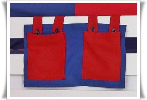 Tony poche latérale Sac pochette en tissu bleu et rouge pour enfants haut Lits
