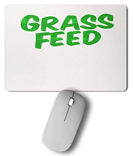 SPIRITSHIRTSHOP Grass Feed, Grass Fed, hierba, alimentación, hierba, plantas, nutrición, vegano, alfombrilla para ratón * 27 cm x 19 cm