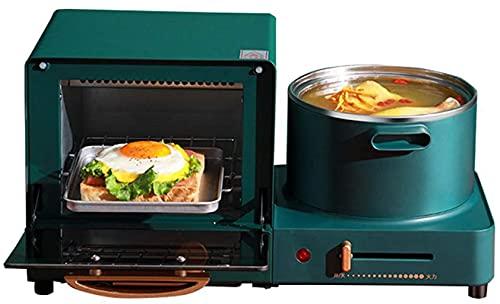 Horno de microondas en tacto plateado Cocina de horno halógeno de convección premium ideal para asar, hornear mini horno con control de temperatura ajustable