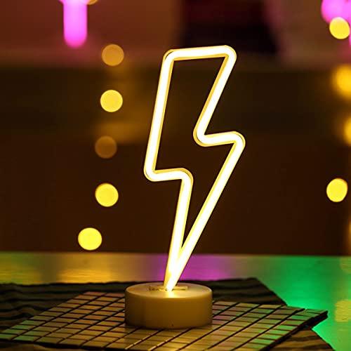 Letrero de neón LED USB o con Pilas Luz de Noche de neón Luz de Arte Decoración Decoración de Pared Lámpara de Mesa Decoración Sala de Estar Familiar Boda Cumpleaños Fiesta de Navidad