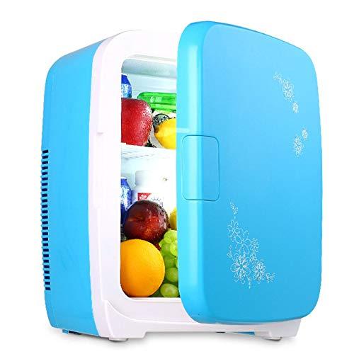 YSYW Frigorifero per Auto, Frigorifero per Auto Frigo Mini Frigo da 15 Litri E Bevande Calde per Alimenti Termoelettrici Refrigeratore Portatile E Silenzioso,Blue