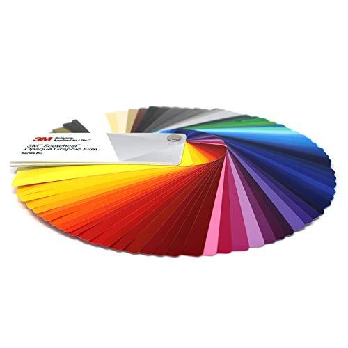 Farbfächer 3M Wrap Film 1080/1380 Di-Noc 8900 580E Scotchcal 80 100/983/180 Folie Autofolie Werbung (Farbfächer 3M Scotchcal 80 Series)
