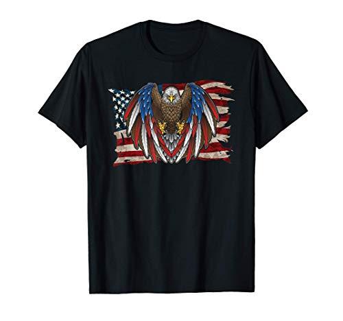 Bandera Americana Patriótica Águila Vintage EE.UU. Camiseta