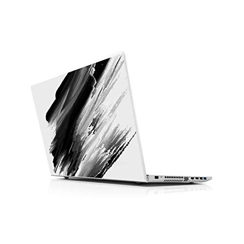 Black Laptop Skin Sticker Universal for 13 14 15 6 16 17 19 Inches Inc Sticker for Mac Dell Acer HP Toshiba ASUS -15.6 Inch (38 x 27 cm)