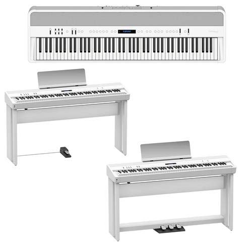 Buy Roland FP-90 88 Key Digital Piano - Bundle with Roland KSC-90 Stand White, Roland KPD-90 Pedal U...