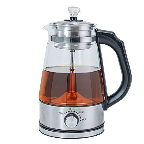 Teekocher Elektrisch 1L 2 In 1-Tee-Und Wasserkocher Tea Maker Glaskanne Mit Permanent-Edelstahl-Teefilter (Herausnehmbar) Und Warmhaltefunktion (600W)