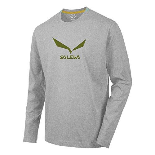 Salewa T-Shirt à Manches Longues pour Homme Solid Logo 2 CO L/S, Homme, Longsleeve SOLIDLOGO 2 CO Männer L/S T-Shirt, Bleu Roi, 48/M