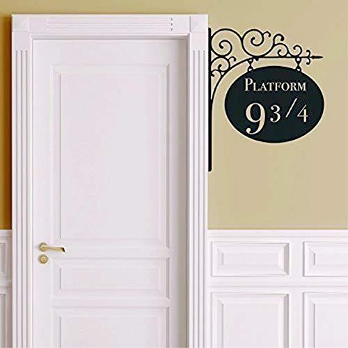 Adhesivo de pared de la puerta de la guardería de Harry Potter de 25 cm de Amikim, adhesivo decorativo de pared extraíble, vinilo de pared decorativo