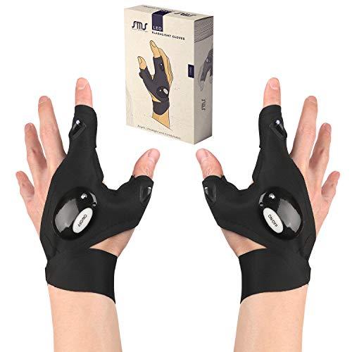Sms LED Flashlight Gloves, LED Gloves, Flashlight Gloves, Gadgets for Men, Light Gloves, Mechanic Lights, Finger Lights,