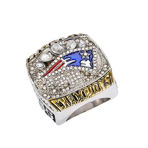 Naisicatar Super Bowl Rugby Patriot-Meisterschaft-Ring Footballsouvenir Ring Einzigartige Uing Romantische Geschenk Für Männer