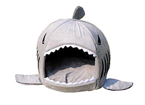 niceEshop(TM) Hai Form Haustier Hund Katze Nest mit Unterlage
