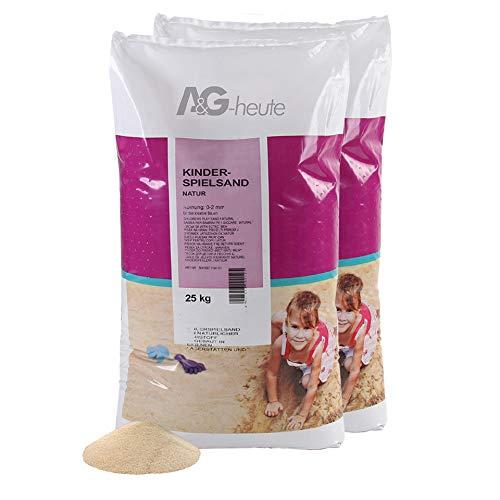 A&G-heute 50kg Spielsand Quarzsand für Kinder Sandkasten Dekosand geprüft gesiebt top Farbe beige Qualität