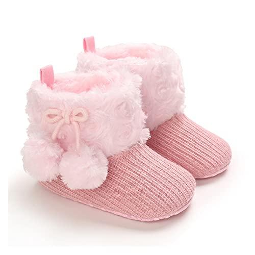 FURONGWANG6777BB Zapatos de niña Botas de Nieve Botas para niños Sólido Color Sólido Antideslizante Prewalker Botas de algodón para niños Invierno (Baby Age : 0-6 Months, Color : A)