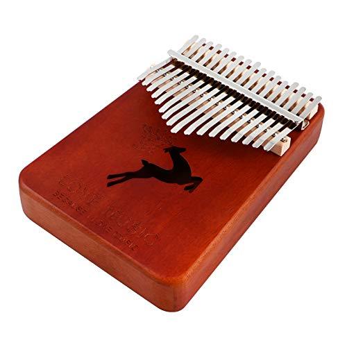 MILISTEN Daumen Klavier 17 Tasten Tragbare Finger Klavier Mahagoni Holz Musikinstrument Geschenke für Kinder Und Erwachsene Anfänger Kaffee