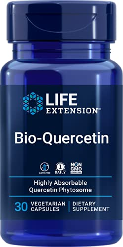 Life Extension Bio-Quercetin – Supports Immune & Cardiovascular Health – Gluten-Free, Once Daily, Non-GMO – 30 Vegetarian Capsules