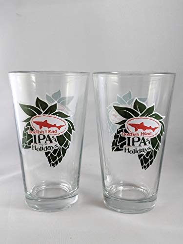 Dogfish Head IPA's For The Holidays Pint Glass - Set of 2