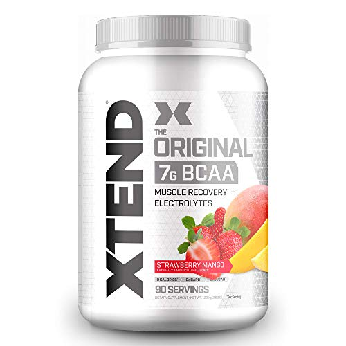 XTEND Original BCAA Powder Strawberry Mango   Sugar Free Post Workout Muscle Recovery Drink with Amino Acids   7g BCAAs for Men & Women   90 Servings
