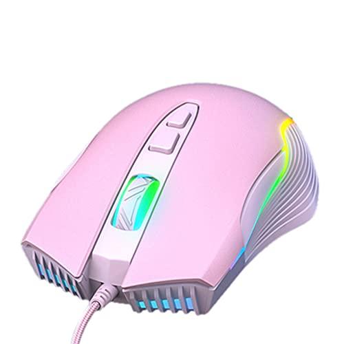 Ratón para Juegos 800-6400 dpi, Color de luz RGB, 6 dpi Ajustables, 7 Botones, Mouse Mouse para Juegos láser USB, Alta precisión, diseño ergonómico