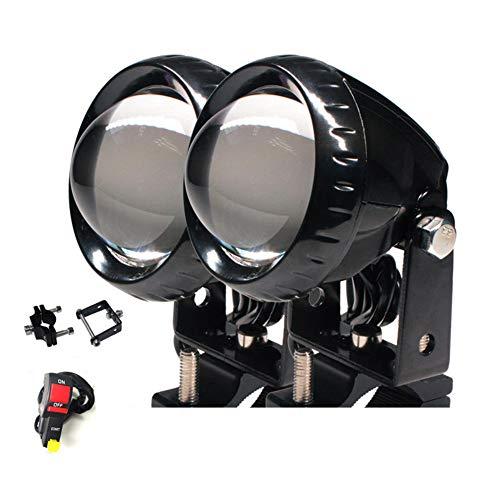 2pcs Motorrad Scheinwerfer Nebellicht,hoch Low-beam-zusatzlampe,spotlight Zusätzliche Lichter,mit Mounting Bracke Swith Universal Schwarz Weißes Licht