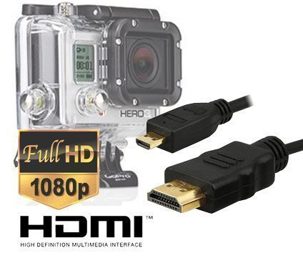 Extra Long 10 Foot Micro HDMI HD Video Cable for Gopro Hero3,Hero3+,Hero4 Black Edition and Silver Edition Camera--Version By Master Cables