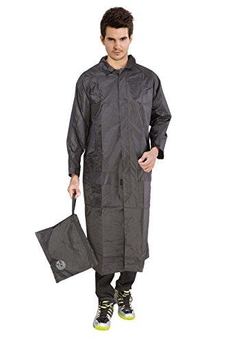 Duckback Solid Unisex Rain Coat (Black, Large)