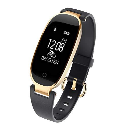 Fitness Tracker, Smart Armband Slim Activity Tracker mit Herzfrequenz Monitor Wasserdicht Fitness Schlaf Monitor für Frauen kompatibel mit Android & iOS