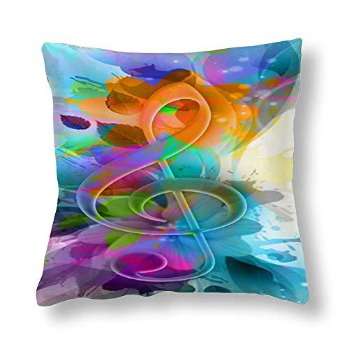 perfecone Home Improvement - Funda de almohada de algodón para sofá y coche (45 x 45 cm)