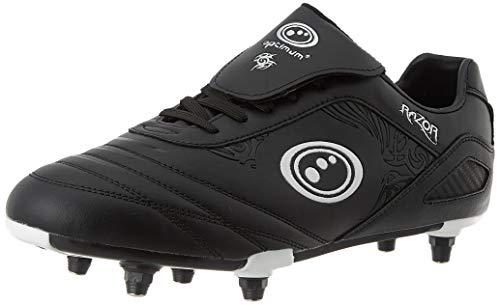 OPTIMUM Razor Lace Up Soft Ground Sg Kids Football Boot (UK 3) Fußballschuh, Black/Silver (Schwarz (Black), 36 EU