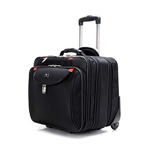 Large Wheeled Laptop Case Roller Bag Pilot Case Laptop 18inch - Unisex