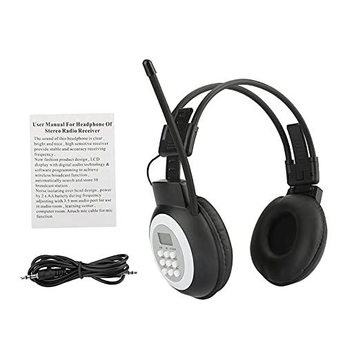 Baoblaze Tragbarer Persönlicher FM Radio Kopfhörer mit LCD Display Noise