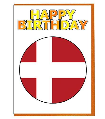 Dänemark-Flagge – Geburtstagskarte – Fre& – Familie – Kollege – Mate – Boss – geliebte Person