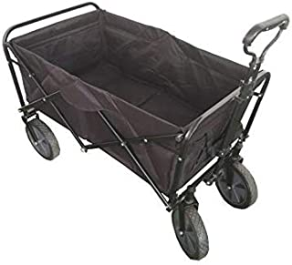 Folding camping multi-function shopping cart, Black