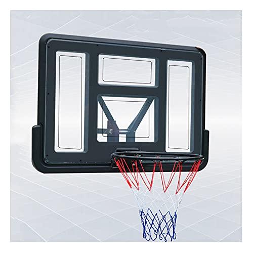 Canasta Baloncesto Soporte De Baloncesto De Pared Grande, con Tablero De PC Y Aro De Metal, Estante De Entrenamiento De Baloncesto para Jardín Interior Y Exterior, para Adolescentes Adultos