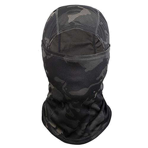 Yongbest Passamontagna,Camuflaje Pasamontañas Balaclava Máscara para Hombres,Mujeres,Deportes al Aire Libre,Caza,Ciclismo,Motos,Esquí