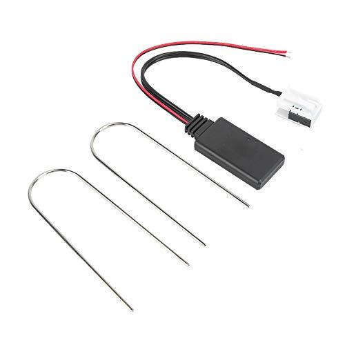 Adaptador de cable auxiliar Interfaz de audio y música Bluetooth 7.87in Estéreo de automóvil Adaptador de carga auxiliar Cable Radio MP3 Cable apto para RCD 110
