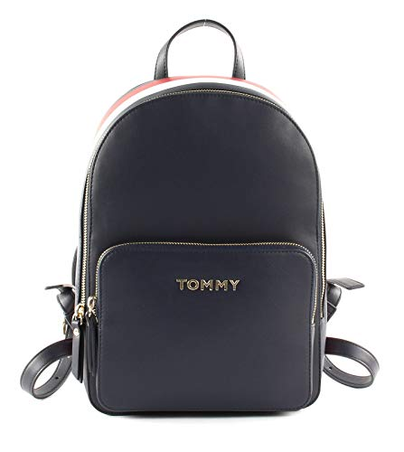 Tommy Hilfiger Damen Th Backpack Rucksack, Mehrfarbig (Corporate Mix), 10x0.1x21.5 centimeters
