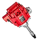 Hei Distributor Ignition 7500RPM 65k Coil V8 Compatible With Chevy GM SBC BBC Small Blocks 283 305 307 327 350 400 and Big Blocks 396 427 454 Red Cap Racing Power