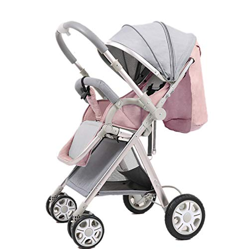 Lowest Prices! JAD@ High Landscape Baby Stroller Handle Reversible Infants Buggy Can Sit and Lie Dow...
