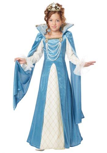 Girls Renaissance Queen Costume Medium (8-10)