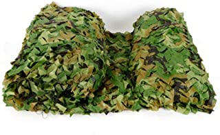 Image of Woodland Camo Netting Camouflage Net for Camping Military Hunting Shooting Sunscreen Nets 26 x 26FT Woodland Camo Netting Camping Military Hunting Camouflage for Car-Covering Bird Watching USA Stock