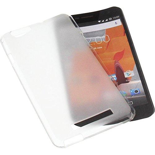 foto-kontor Tasche für Wileyfox Spark X Gummi TPU Schutz Handytasche transparent weiß