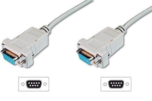 ASSMANN Zero-Modem connection cable, D-Sub9 F/F, 3.0m, snap-hoods