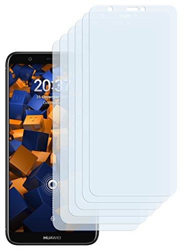 mumbi Schutzfolie kompatibel mit Huawei P Smart Folie klar, Displayschutzfolie (6X)