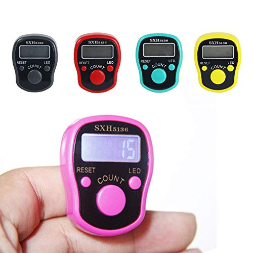 MXECO 1pc Creative Stitch Marker Row Counter LCD Electronic Digit Finger Ring Digital Counter Tally Contador Clicker Timer