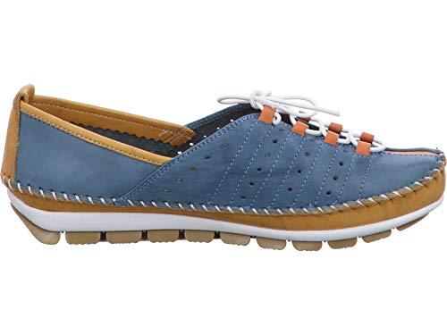 Gemini 382001-01 Schuhe Damen Halbschuhe Slipper Schnürschuhe Leder, Größe:39 EU, Farbe:Gelb